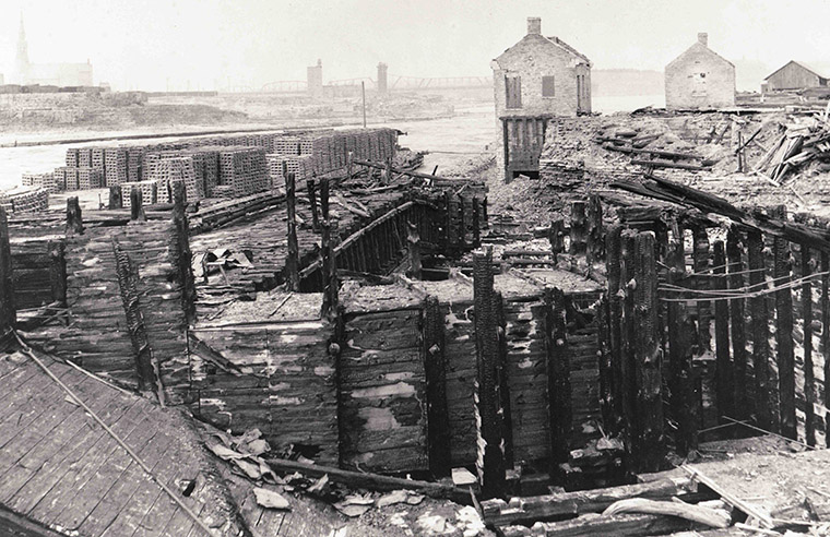 Remains of Ottawa Power Co Buildings Chaudiere District.