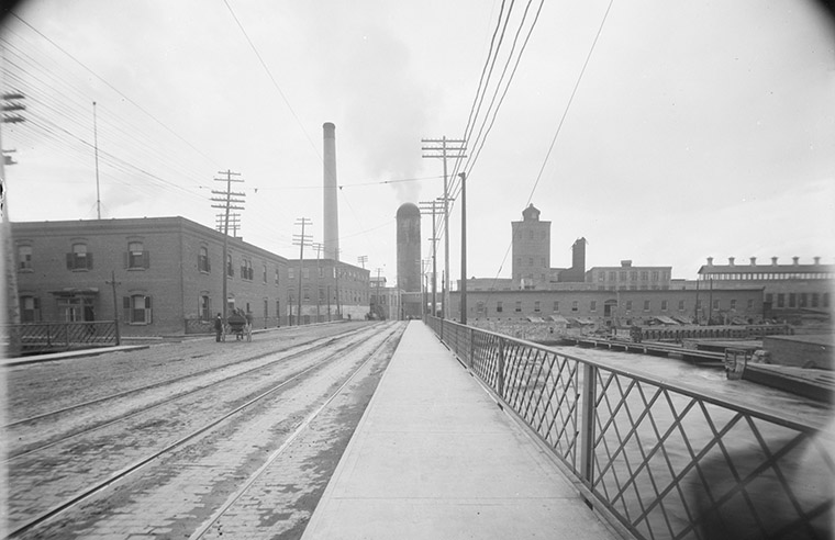 Looking north towards Eddy's and Booth's Mills. Undated. Photo credit: William James Topley/Library and Archives Canada.