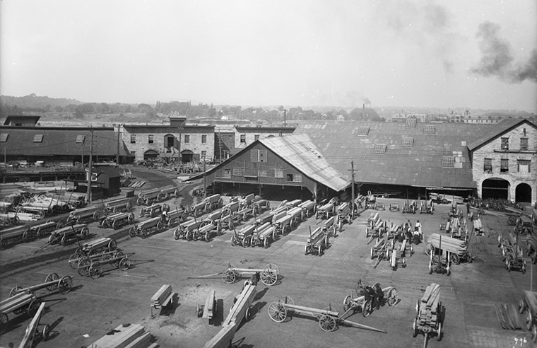Booth's Mills, circa 1907. Photo credit: William James Topley/Library and Archives Canada.